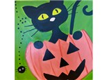 After School Art Club- Halloween Cat Canvas- Wed, Oct 27th- 4 to 6pm