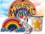 Virtual Unicorn Birthday Party (Acrylic To-Go Kit)