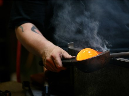 Pearl Jam - The Home Shows - glassblowing at glassybaby madrona - august 9