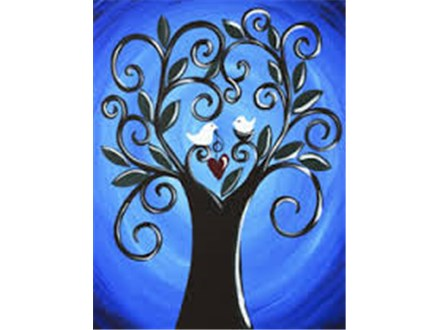 "Wine+Design ""Love Grows Here"" Canvas Painting"