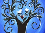 """Wine+Design """"Love Grows Here"""" Canvas Painting"""