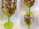 Wineglass Reindeer Paint Night - December 7th