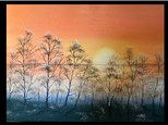 "11/23 GA-OIL: ""Misty Dawn with Snow"" 10 AM $45"