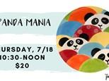 Pottery Patch Camp Thursday, 7/18 (10:30-NOON) POTTERY: Panda Mania