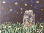Canvas & Wine Night!  Catchin' Fireflies! 7/6/17