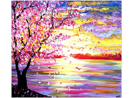 Cherry Blossom - Canvas - Paint and Sip