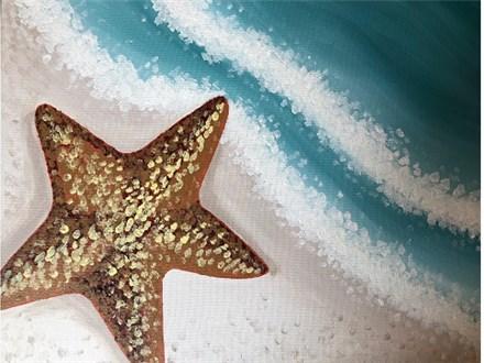 Canvas & Wine Night! Starfish! 3/12/19