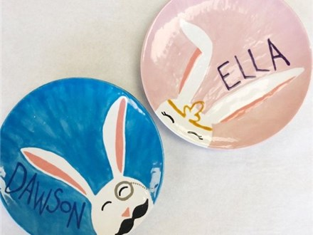 Kid's Pottery - Easter Plate - Evening Session - 04.10.19