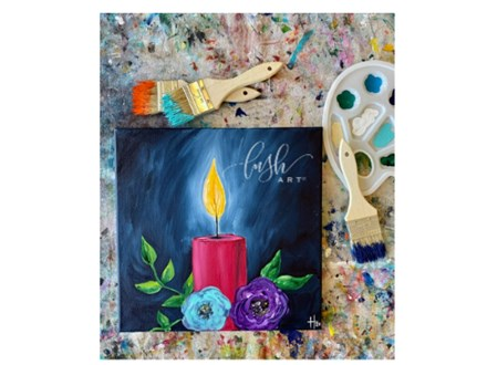 Candle Light VIRTUAL Paint Class