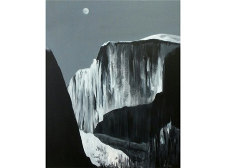 "Ansel Adams ""Moon and Half Dome"" 16x20 canvas"