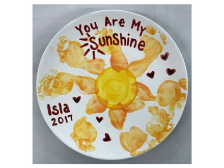 Mommy/Daddy & Me - Sunshine Plate 08/15