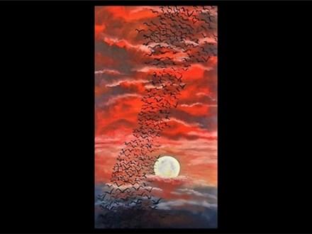 Oil: Guest Artist: Bird Flight at Sunset 02/26
