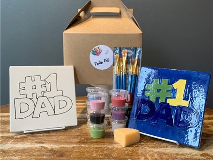 PoGo Kits: Paint Your Own Pottery ToGo! (#1 Dad tile)
