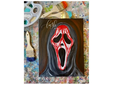 Scream Inspired Paint Class