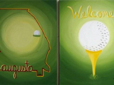 Augusta Golf Fans - your choice - 1- 16x20 canvas per person