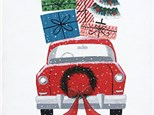 """""""Merry Christmas Car"""" Canvas Paint Night(Thurs, Nov 28 from 6-9pm) at color Me Mine Aspen"""