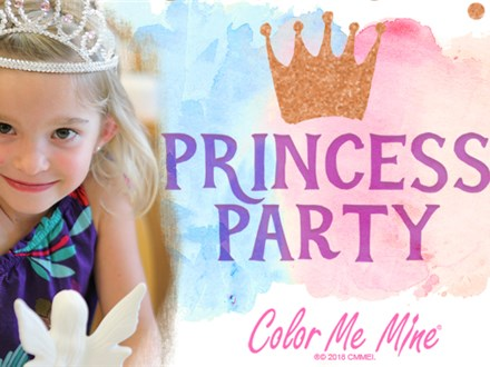 Princess Birthday Party at Color Me Mine - Upto 10 kids
