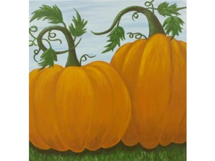 Pumpkins 12x12 canvas