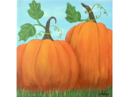 Pumpkins - 12x12 canvas