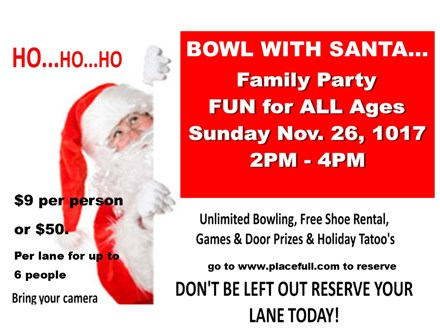 Bowl With Santa (per person package)