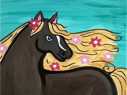 Flower Filly Kid's Canvas Class