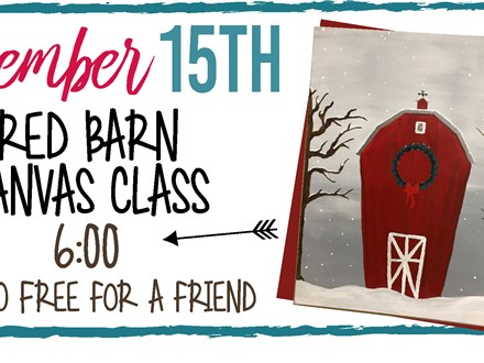 Dec. 15th Red Barn Canvas Class