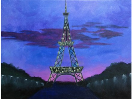 """Eiffel Tower at Twilight"" Group Party at Sketch Pad"