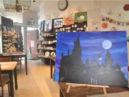 January Harry Pottery canvas painting class