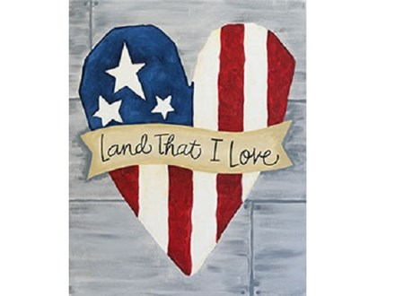 Canvas & Wine Night! Land That I Love! 7/3/17