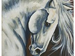 "Canvas & Coffee ""Majestic Stallion"""