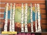 BIRCH TREES CANVAS CLASS