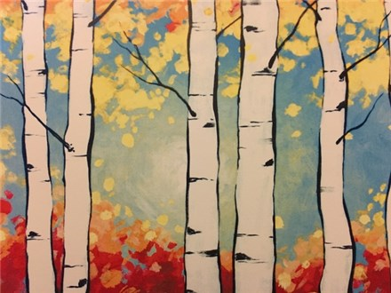 BIRCH TREES CANVAS CLASS