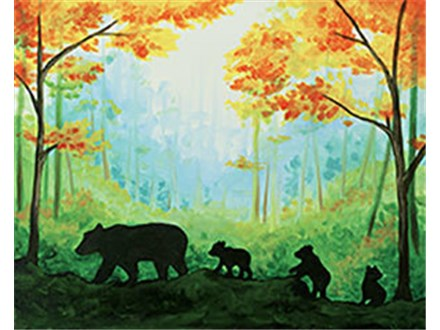 Mama Bear Canvas Class!
