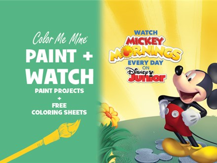 Mickey Mouse- Paint and Watch!