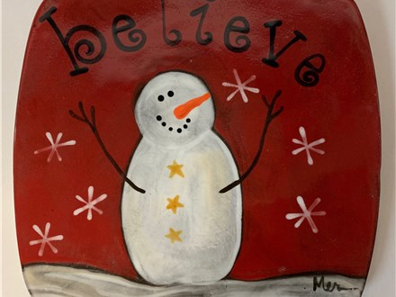 Snowman Christmas Plate Dec. 11
