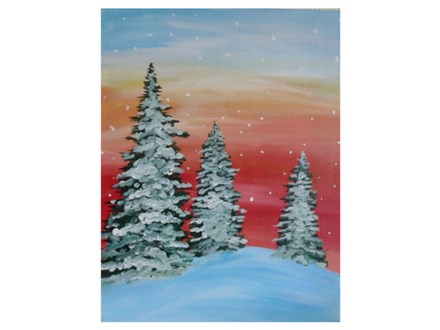 Snow in the Evergreens - Paint & Sip - Dec 27