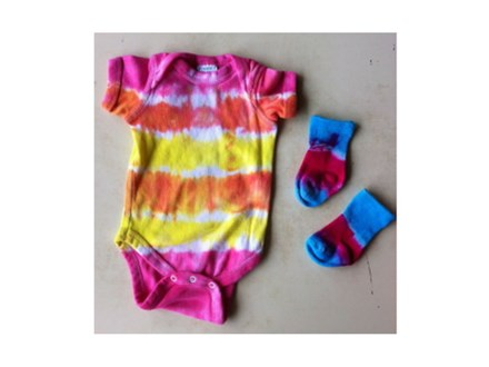 Tie-dye Baby Shower
