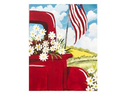 Mt. Washington Truck & Daisy Canvas - July 2nd
