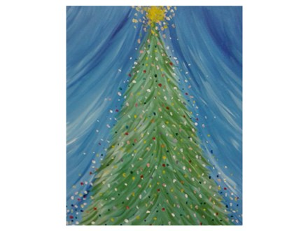 Oh Christmas Tree, a lighted canvas - Paint & Sip - Dec 3