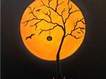 Paint & Sip - Oct. 27 - 7:30 pm - Orange Halloween Moon