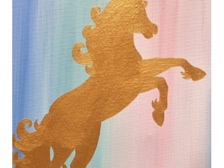 Art Club: Golden Unicorn Canvas