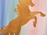 Art Club: Golden Unicorn Canvas