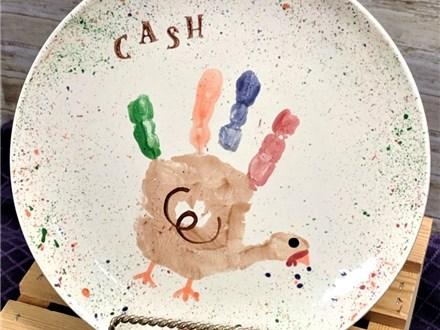 Art Club: Turkey Handprint Plates