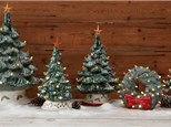 Order Now! - Vintage Light Up Christmas Trees/Wreath