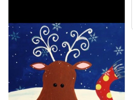 Birthday Reindeer Painting