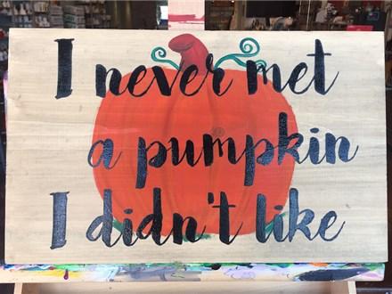 Cutie Pumpkin Board Art Night! Saturday, October 7th 6-9p