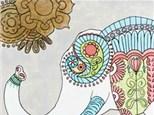 Boho Elephant Canvas Class