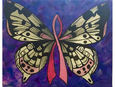 """Cancer Support Butterfly"" (customizable)"