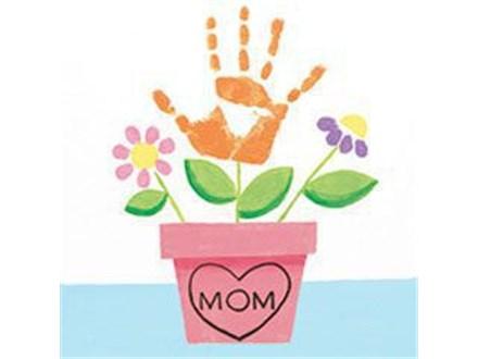 Kid's Canvas - Handprint Flowers - 04.26.17 - Morning Session