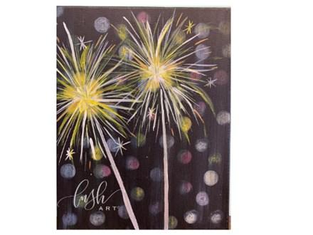 Sparklers Paint Class